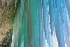 Cueva de hielo magnífica de la isla Fotos de archivo