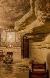 Cueva de Ignatius de Loyola del santo Imagen de archivo