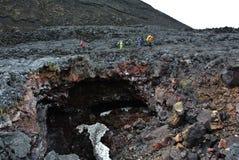 Cueva de la lava Foto de archivo libre de regalías