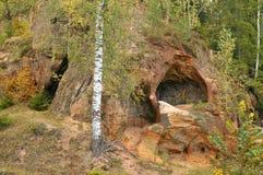 Cueva de la piedra arenisca Imagen de archivo