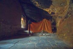 Cueva de la yoga del gurú Fotos de archivo libres de regalías