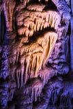 Cueva de las estalagmitas de las estalactitas Imagen de archivo libre de regalías