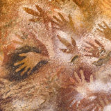 Cueva de las Manos, Patagonia, Argentina. Detail view of primitive art painted on rock at Cueva de las Manos, an archeological site located in the patagonia Stock Images