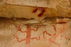 Cueva de las manos Stock Images