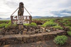 Cueva de los Verdes, en Lanzarote, islas Canarias, España Fotografía de archivo libre de regalías