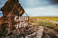 Cueva De Los Verdes Zawalający się Obraz Royalty Free