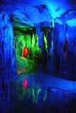 Cueva de múltiples capas hermosa del karst Fotografía de archivo