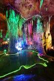 Cueva de múltiples capas hermosa del karst Foto de archivo