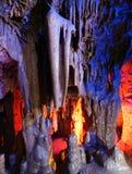 Cueva de múltiples capas hermosa del karst Foto de archivo libre de regalías