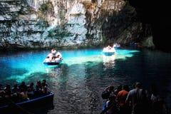 Cueva de Melissani Imagen de archivo libre de regalías