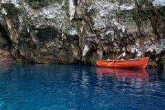 Cueva de Melissani Foto de archivo libre de regalías