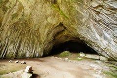 Cueva de Meziad de las montañas de Apuseni Imágenes de archivo libres de regalías