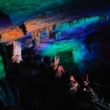 Cueva de PROMETHEUS - cueva del karst en Georgia occidental Imagenes de archivo