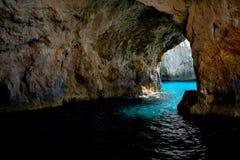 Cueva del azul de Zakynthose Foto de archivo