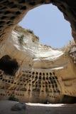 Cueva del Columbarium de Adullam en la pista de Judea imágenes de archivo libres de regalías
