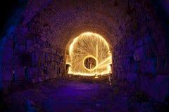 Cueva del fuego artificial Fotos de archivo libres de regalías