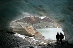 Cueva del glaciar fotos de archivo
