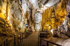 Cueva del paraíso en la ciudad de Dong Hoi Fotografía de archivo