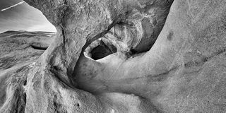 Cueva del viento del desierto Imagen de archivo libre de regalías