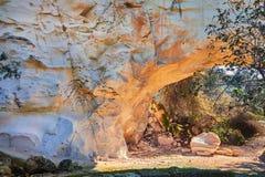 Cueva en Beit Guvrin Israel fotografía de archivo libre de regalías