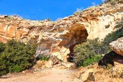Cueva en Beit Guvrin Israel imagen de archivo libre de regalías