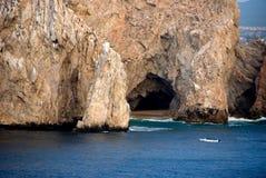 Cueva en el mar de Cortez Fotografía de archivo