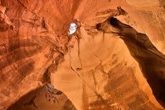 Cueva en el parque nacional de Bet Guvrin Israel imagen de archivo