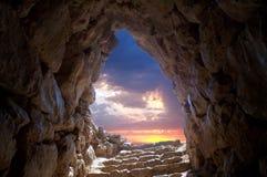 Cueva en Mycenae Imagenes de archivo