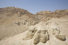 Cueva en Qumran Foto de archivo libre de regalías