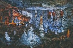 Cueva grande en Israel Foto de archivo libre de regalías
