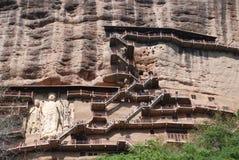 Cueva ocultada de Buda Fotografía de archivo
