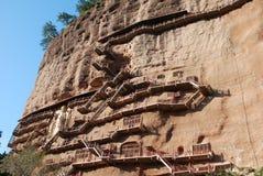 Cueva ocultada de Buda Fotos de archivo