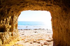 Cueva portuaria de Willunga Imagenes de archivo