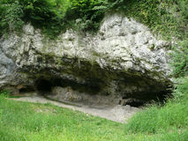 Cueva prehistórica de la vivienda Imagen de archivo libre de regalías