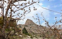 Cueva Uchhisar Cappadocia, Turquía central imagen de archivo libre de regalías