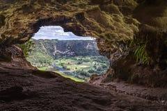 Cueva Ventana - la finestra frana il Porto Rico Fotografia Stock Libera da Diritti