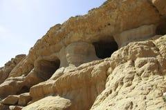 Cuevas antiguas en Matala en Crete, Grecia foto de archivo