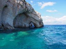 Cuevas azules, Zakynthos. imagen de archivo libre de regalías
