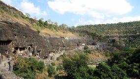 Cuevas de Ajanta Imagen de archivo libre de regalías