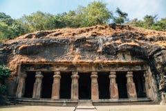 Cuevas de Elephanta en Bombay, la India fotografía de archivo libre de regalías