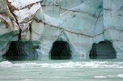 Cuevas de hielo Imagen de archivo libre de regalías