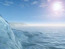 Cuevas de hielo antárticas ilustración del vector
