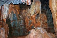 Cuevas de la piedra caliza de Sudwalla en Mpumalanga Foto de archivo