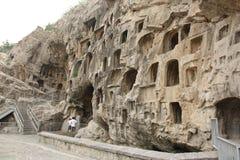 Cuevas de Longmen en Luoyang imágenes de archivo libres de regalías