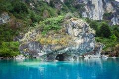 Cuevas de mármol Capillas del Marmol El lago general Carrera también llamó a Lago Buenos Aires Al norte de Patagonia chile imagen de archivo libre de regalías