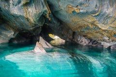 Cuevas de mármol Capillas del Marmol El lago general Carrera también llamó a Lago Buenos Aires Al norte de Patagonia chile imagen de archivo