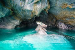 Cuevas de mármol Capillas del Marmol El lago general Carrera también llamó a Lago Buenos Aires Al norte de Patagonia chile fotos de archivo libres de regalías