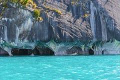 Cuevas de mármol de general Carrera (Chile) del lago foto de archivo