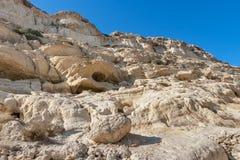 Cuevas de Matala Crete, Grecia fotos de archivo libres de regalías