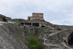 Cuevas de Uplistsikhe, Georgia Foto de archivo libre de regalías